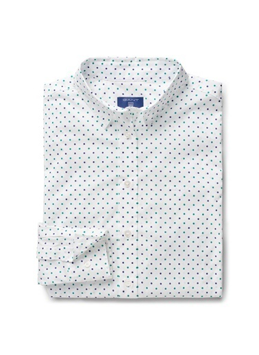 Gant Noktalı Gömlek Yeşil